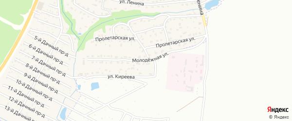 Молодежная улица на карте поселка Ивановки с номерами домов