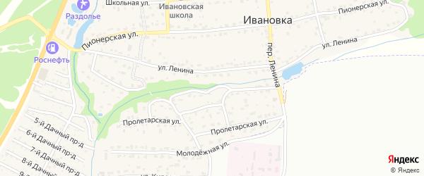 Аэропортная улица на карте поселка Ивановки с номерами домов