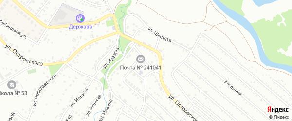 Улица Автомобилистов на карте Брянска с номерами домов
