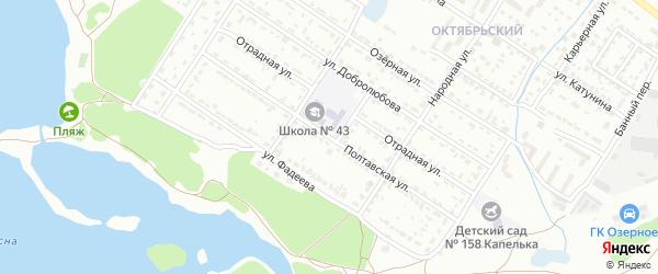 Полтавская улица на карте Брянска с номерами домов