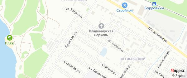 Мало-Озерный проезд на карте Брянска с номерами домов