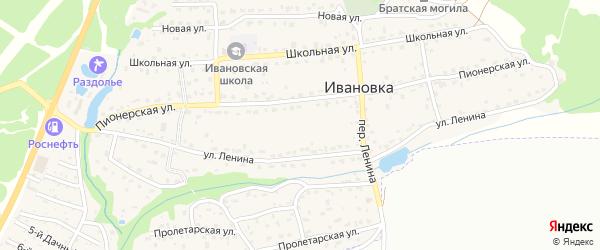 3-й Дачный проезд на карте поселка Ивановки с номерами домов
