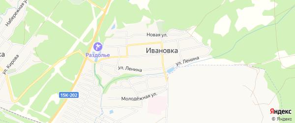 Отрадное СТ на карте поселка Ивановки с номерами домов