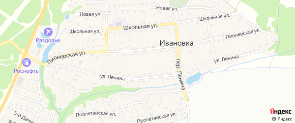 9-й Дачный проезд на карте поселка Ивановки с номерами домов