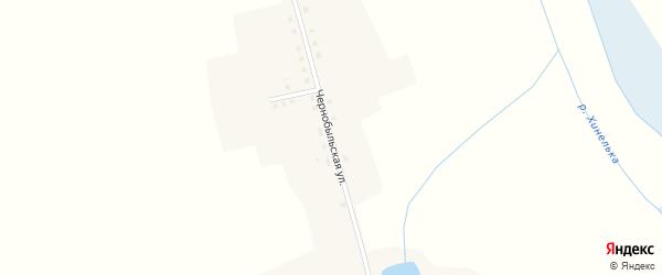 Чернобыльская улица на карте села Хинели с номерами домов