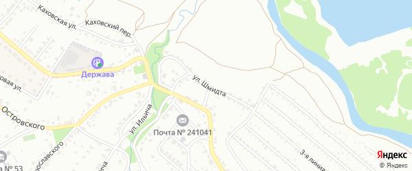 Улица Шмидта на карте Брянска с номерами домов