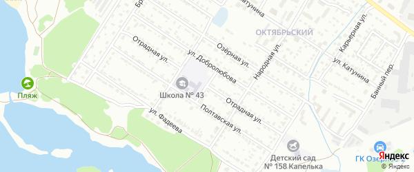 Отрадная улица на карте Брянска с номерами домов