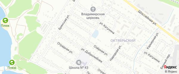 Переулок Коршунова на карте Брянска с номерами домов
