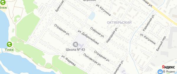 Улица Добролюбова на карте Брянска с номерами домов