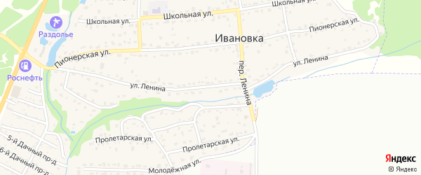 Улица Ленина на карте поселка Ивановки с номерами домов