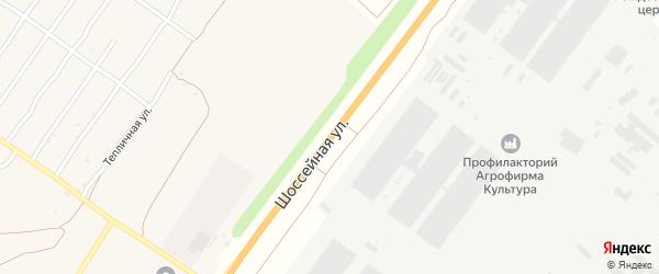 Шоссейная улица на карте деревни Добруни с номерами домов
