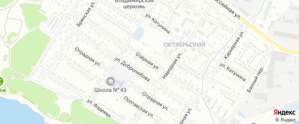 Озерная улица на карте Брянска с номерами домов