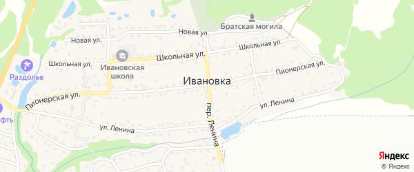 7-й Дачный проезд на карте поселка Ивановки с номерами домов