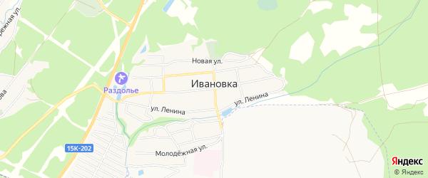 Карта поселка Ивановки в Брянской области с улицами и номерами домов