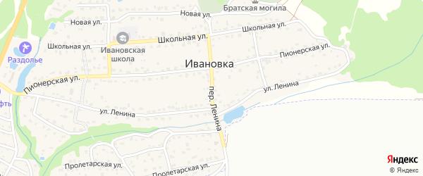 Переулок Ленина на карте поселка Ивановки с номерами домов