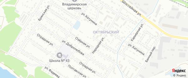 Мало-Озерная улица на карте Брянска с номерами домов