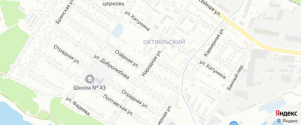 Народная улица на карте Брянска с номерами домов