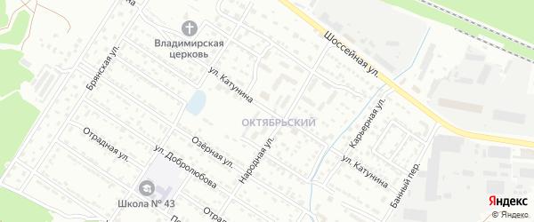 Улица Катунина на карте Брянска с номерами домов