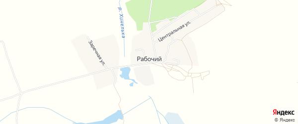Карта Рабочего поселка в Брянской области с улицами и номерами домов