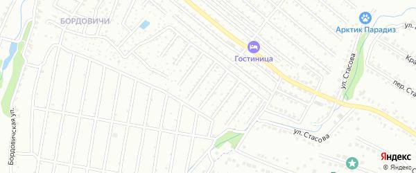 Территория сдт Лужаны на карте Брянска с номерами домов