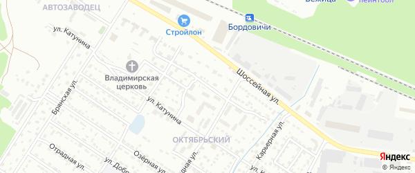 2-й Карьерный проезд на карте Брянска с номерами домов