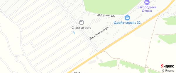 Розовая улица на карте Брянска с номерами домов