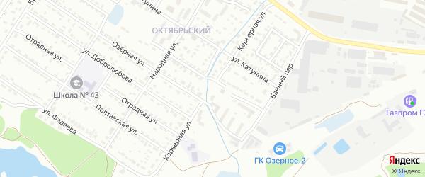Карьерная улица на карте Брянска с номерами домов