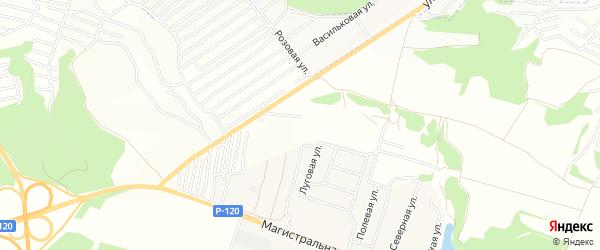 Территория СО Мичуринец на карте Брянска с номерами домов