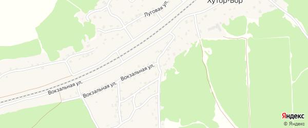 Вокзальная улица на карте поселка Хутора-Бора с номерами домов