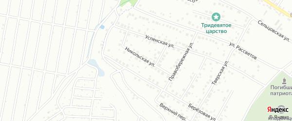 Никольская улица на карте Брянска с номерами домов