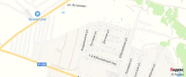 Луговая улица на карте Мичуринского поселка с номерами домов