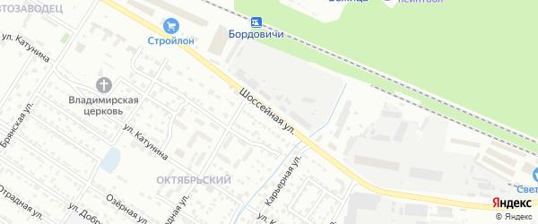 Шоссейная улица на карте Брянска с номерами домов