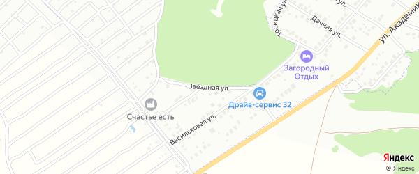 Звездная улица на карте Брянска с номерами домов