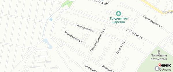 Успенский переулок на карте Брянска с номерами домов