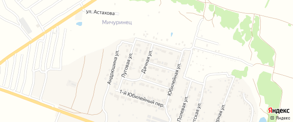Дачная улица на карте Мичуринского поселка с номерами домов