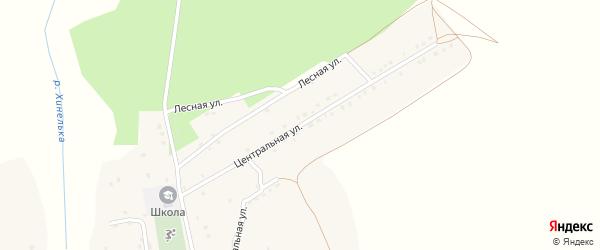 Центральная улица на карте Рабочего поселка с номерами домов