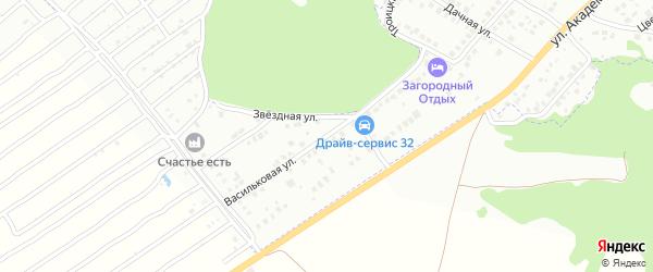 Васильковая улица на карте Брянска с номерами домов