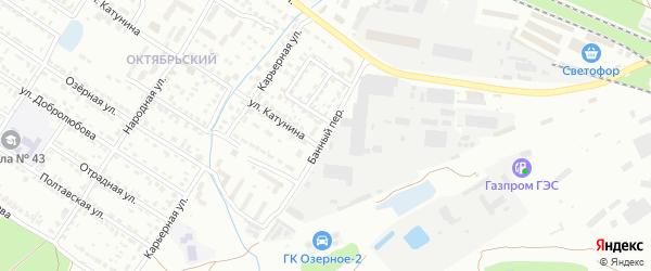 Банный переулок на карте Брянска с номерами домов