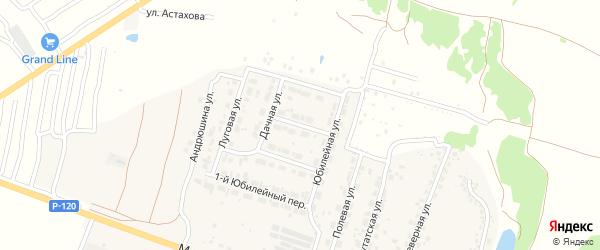 3-й Юбилейный переулок на карте Мичуринского поселка с номерами домов