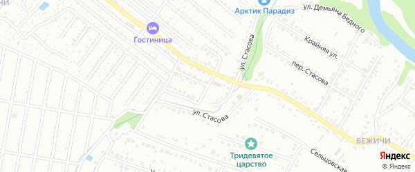 Улица Стасова на карте Брянска с номерами домов