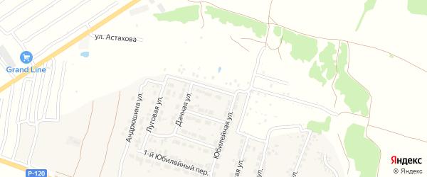 4-й Юбилейный переулок на карте Мичуринского поселка с номерами домов