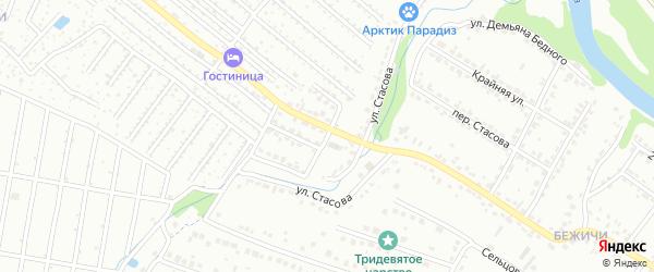 Садовый проезд на карте Брянска с номерами домов