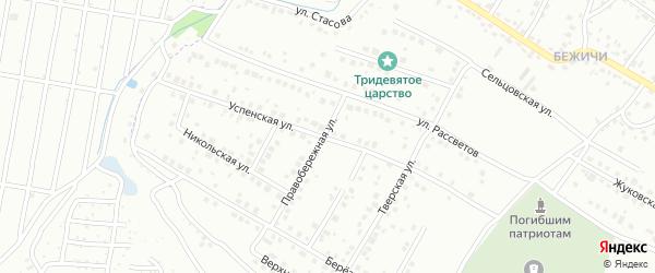 Успенская улица на карте Брянска с номерами домов