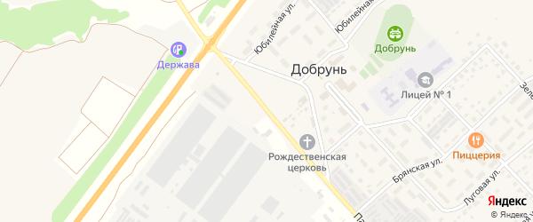Территория ГСК Добрунь (район хозсараев) на карте деревни Добруни с номерами домов