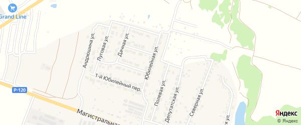 Юбилейная улица на карте Мичуринского поселка с номерами домов