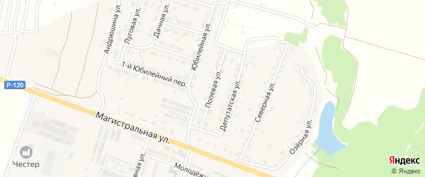 Полевая улица на карте Мичуринского поселка с номерами домов