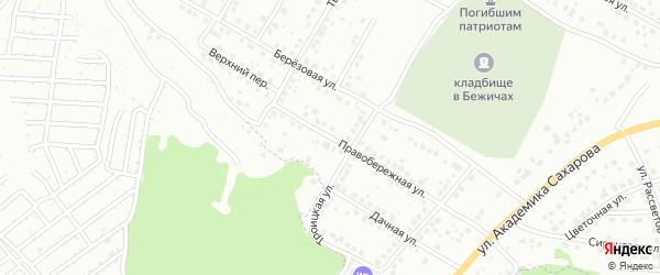 Правобережная улица на карте Брянска с номерами домов