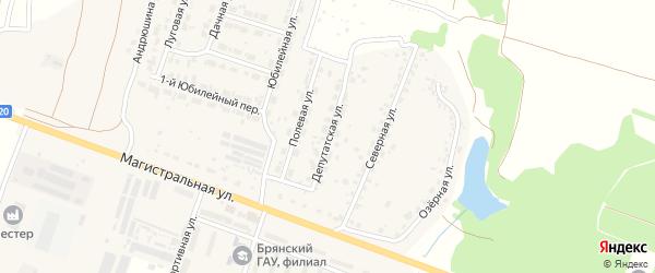 Депутатская улица на карте Мичуринского поселка с номерами домов