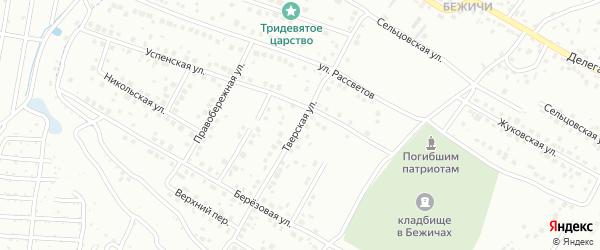 Тверская улица на карте Брянска с номерами домов
