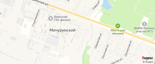 Садовая улица на карте поселка Чистяково с номерами домов